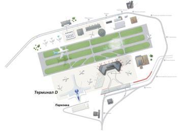 Cхема парковки аэропорта Шереметьево-D, Москва